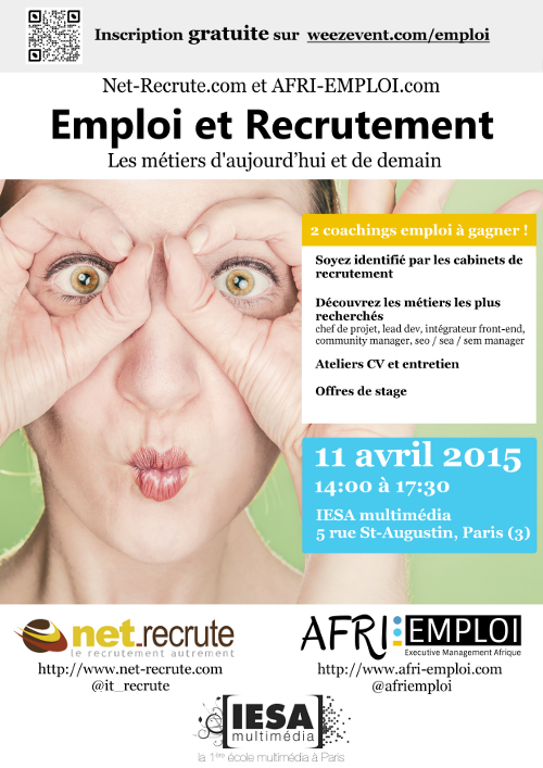 save the date  11 avril 2015  gratuit  paris  digital  metiers  atelier  cv  entretien  it